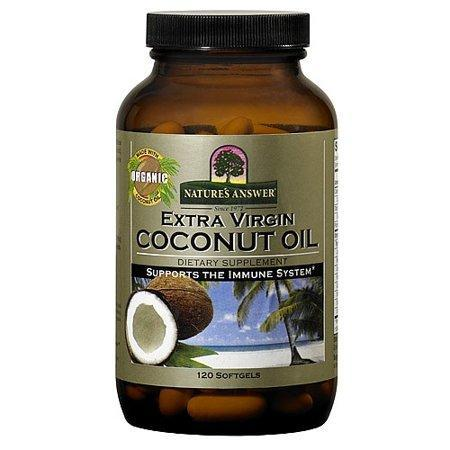 Nature's Answer Extra Virgin Coconut Oil Softgels, 120 Ct