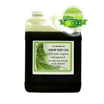 Dr. Adorable - 100% Pure Hemp Seed Oil Organic Unrefined Cold Pressed Natural Hair Skin - 7 lb