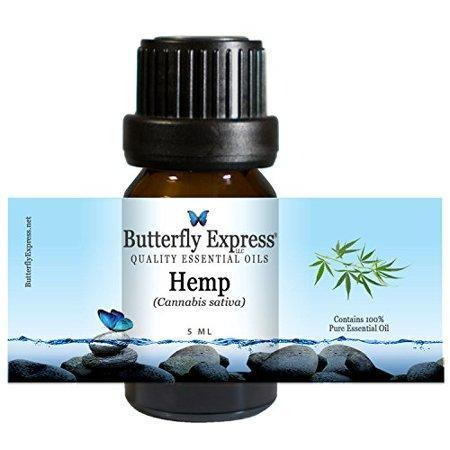 Hemp Essential Oil 5ml - 100% Pure - by Butterfly Express