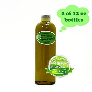 Dr. Adorable - 100% Pure Hemp Seed Oil Organic Unrefined Cold Pressed Natural Hair Skin - 24 oz