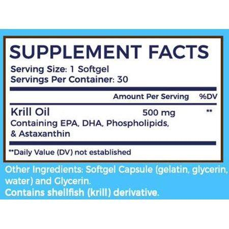 Krill Oil Capsules With Omega-3, EPA, DHA, Astaxanthin & More