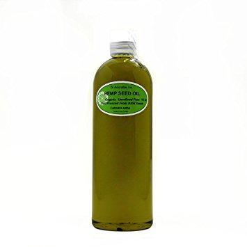 Dr. Adorable - 100% Pure Hemp Seed Oil Organic Unrefined Cold Pressed Natural Hair Skin - 16 oz