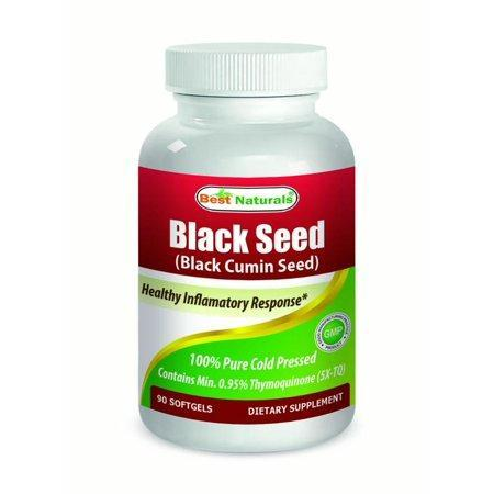Best Naturals Black Cumin Seed Oil Softgels, 500mg, 90 Ct