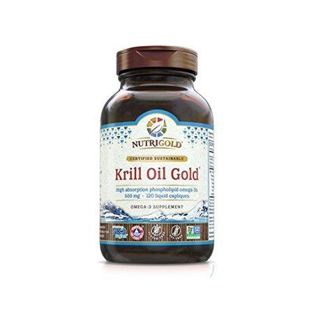 Organic All Natural Krill Oil Gold 500mg 120 capsules by Nutrigold