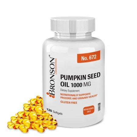 Bronson Pumpkin Seed Oil 1000 mg, 120 Softgels