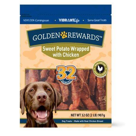Golden Rewards Sweet Potato Wrapped with Chicken Dog Treats, 32 oz