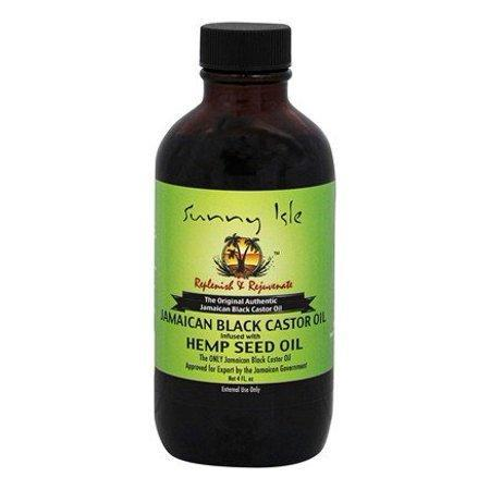 Jamaican Black Castor Oil Hemp Seed Oil - 4 fl. oz. by Sunny Isle (pack of 2)