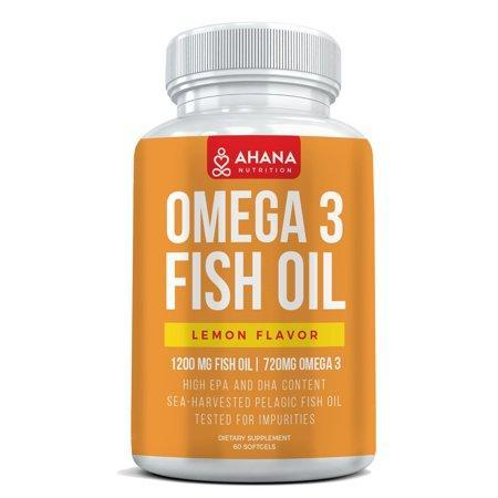 Omega 3 Fish Oil Capsules Burpless Blend (Lemon Flavor)