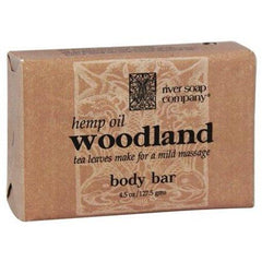 Bar Soap Woodland with Hemp Seed Oil - 4.5 oz. by River Soap Company (pack of 3)