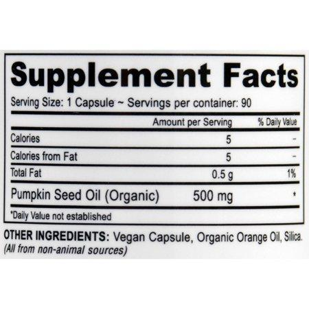 Deva Vegan Pumpkin Seed Oil Capsules, 90 Ct