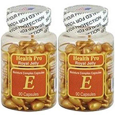 2 x Royal Jelly Vitamin-E Skin Oil 90 Gel, Moisture Complex Health Pro Facial Oil Capsules, FRESH Good Product quality!!