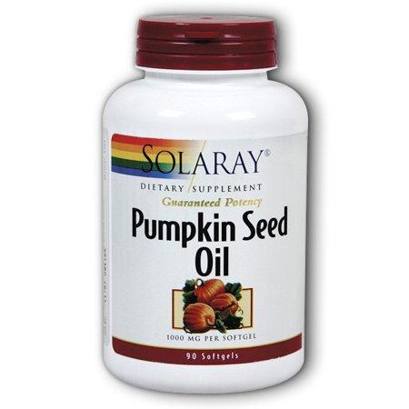 Solaray Pumpkin Seed Oil 1000 mg Capsules, 90 Ct