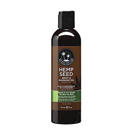 Earthly Body Hemp Seed Massage & Body Oil Naked in The Woods 8 oz. (Pack of 2)