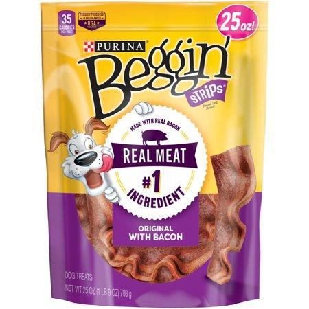 Purina Beggin' Strips Bacon Flavor Dog Treats - 25 oz. Pouch