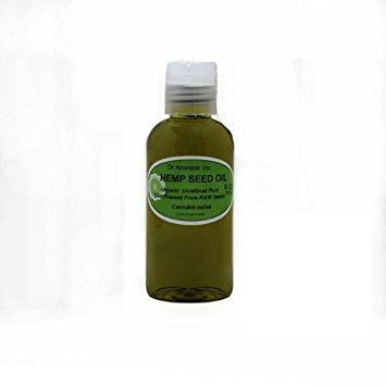 Dr. Adorable - 100% Pure Hemp Seed Oil Organic Unrefined Cold Pressed Natural Hair Skin - 4 oz