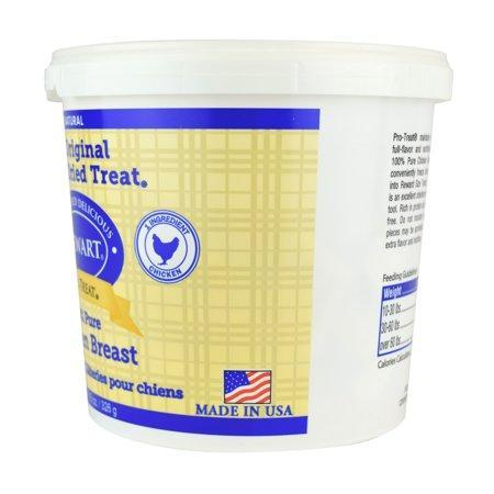 Stewart Freeze Dried Chicken Breast Pets Treats by Pro-Treat, 11.5 oz. Tub