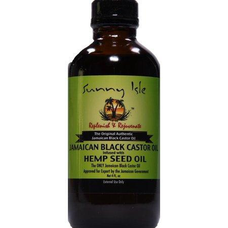 Sunny Isle Jamaican Black Castor Oil Infused with Hemp Oil, 4 Oz