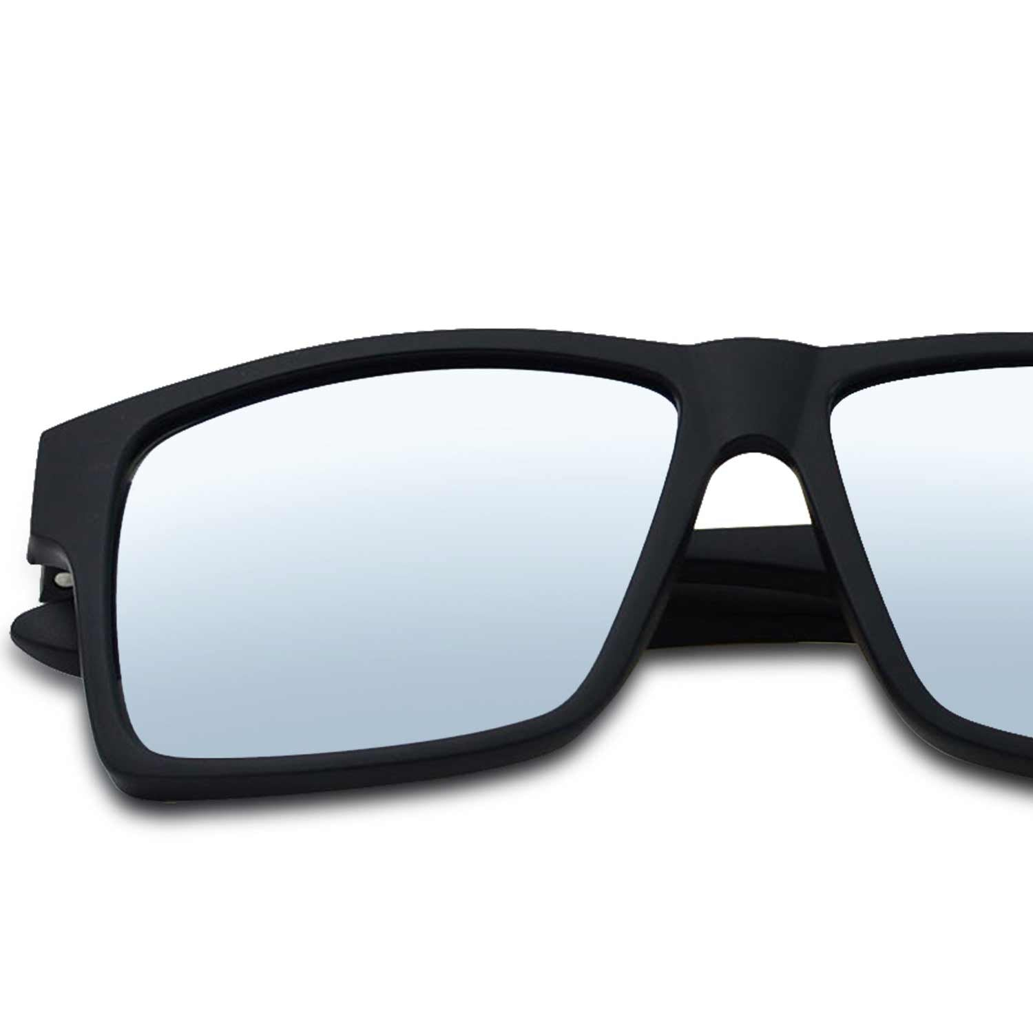 darkest black matte frame sunglass for men dark tinted smoke category4 lenses sunglasses with 2 two white stripes strips on side arm temple classic squared vacation beach male shades optical oar coating polarise polarized sunglasses with white stripes mirrored polarized sunglasses