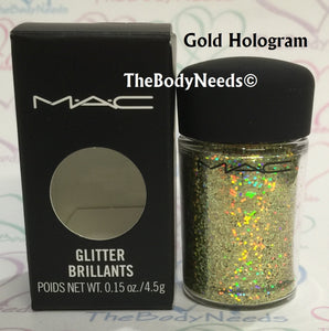Gold Hologram MAC Glitter Sample