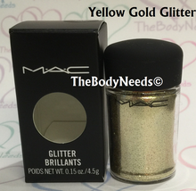 Yellow Gold MAC Glitter Sample