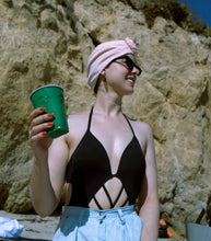 Load image into Gallery viewer, AQUA Waterproof Headwear, Bun Turban in Blush