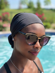 AQUA Waterproof Headwear, Versatile Glam Wrap in Black