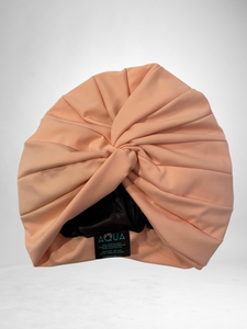 "AQUA ""Vintage Twist"" Turban (Blush)"