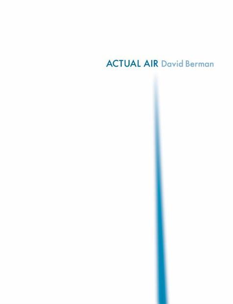 New - Berman, David - Actual Air - Book