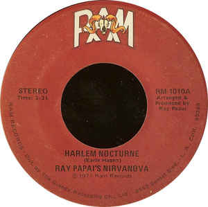 Used - Papai's, Ray Nirvanova ‎– Harlem Nocturne / Love Touches All - 7""