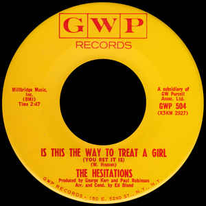 Used - The Hesitations - Is This The Way... 7""