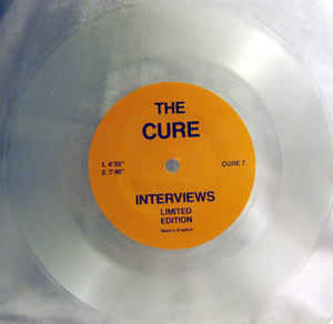 "Used - Cure ‎– Interviews - 7"" Red Vinyl"