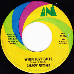Used - Fletcher, Darrow - When Love Calls - 7""