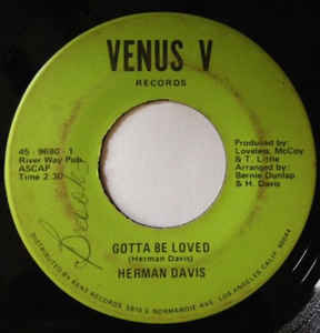 Used - Davis, Herman - Gotta Be Loved - 7