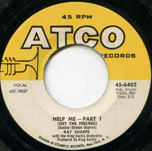Used - Sharpe, Ray With The King Curtis Orchestra* ‎– Help Me (Get The Feeling) - 7