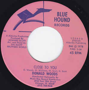 Used - Woods, Donald ‎– Close To You - 7""