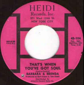 Used - Barbara & Brenda - Hurtin' Inside - 7""