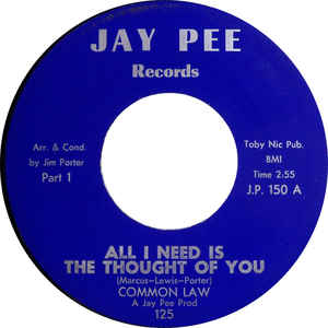 Used -  Common Law ‎– All I Need Is The Thought Of You - 7""