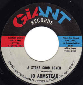 Used - Armstead, Jo ‎– A Stone Good Lover - 7""
