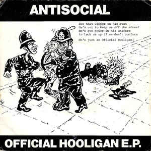 Used - Antisocial - Official Hooligan - 7""