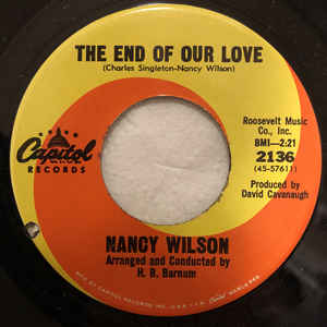Wilson, Nancy - Face It Girl, It's Over - 7""