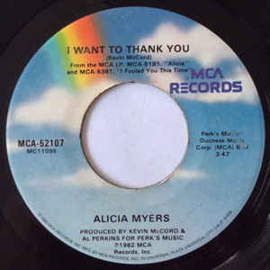 Used - Myers, Alicia - I Want To Thank You - 7""