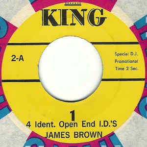 Used - Brown, James ‎– 4 Ident. Open End I.D.'s - 7