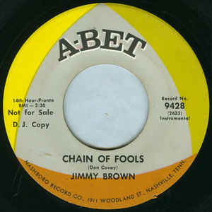 Used - Brown, Jimmy - Chain Of Fools - 7""