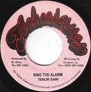 Used - Tenor Saw - Ring The Alarm - 7""