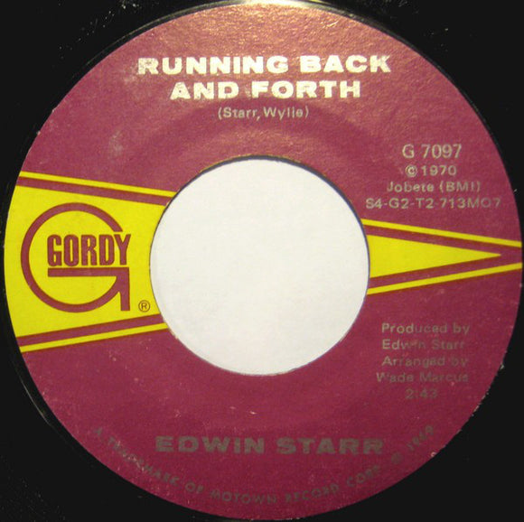Used - Starr, Edwin - Time / Running Back and Forth - 7