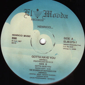 "Used - Henricci - Gotta Have You - 12"" EP"