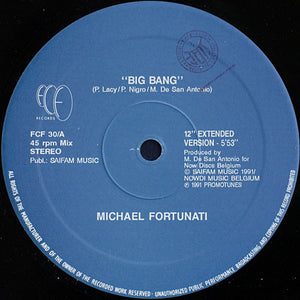 "Used - Fortunati, Michael - Big Bang - 12"" EP"