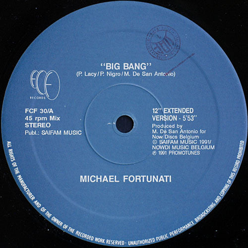 Used - Fortunati, Michael - Big Bang - 12