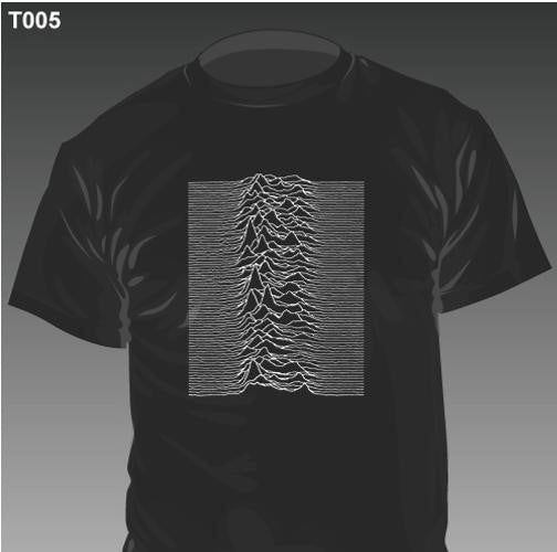 New - Joy Division Unknown Pleasures - Shirt