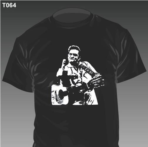New - Johnny Cash Finger - T-Shirt